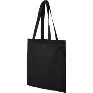 Madras pamut bevásárlótáska, fekete